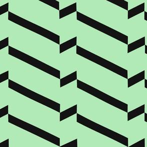 black_and_mint_chevron_glitch