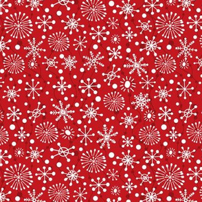 Festive Snowflakes - Red