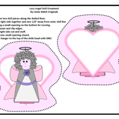 Angel Lucy Cut and Sew Doll Ornament Fabric