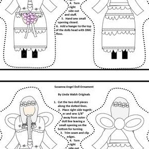 Angel Susanna Cut and Sew Doll Ornament Fabric