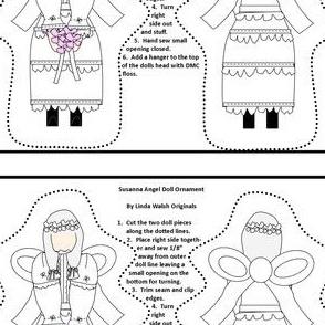 Angel Susanna Cut and Sew Doll Ornament Fabric