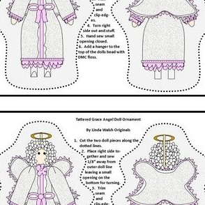 Angel Tattered Grace Cut and Sew Doll Ornament Fabric