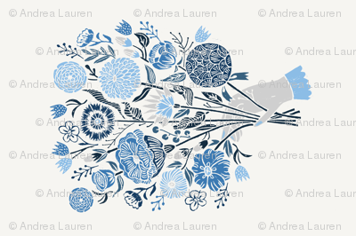 Botanical Tea Towel by Andrea Lauren