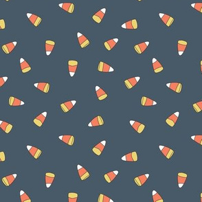 CANDY CORN ON NAVY