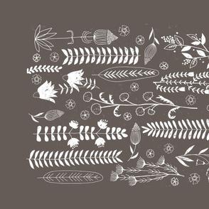 Rustic Botanical Prints Tea Towel