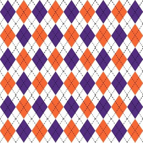 argyle fabric orange and purple