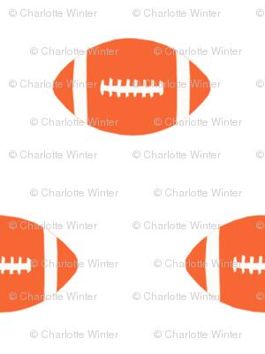 football orange fabric sports college football - orange