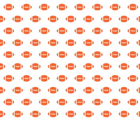football orange fabric sports college football - orange fabric by charlottewinter on Spoonflower - custom fabric