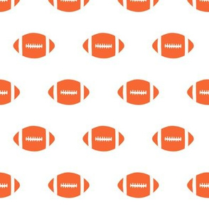 football orange fabric sports college football - orange