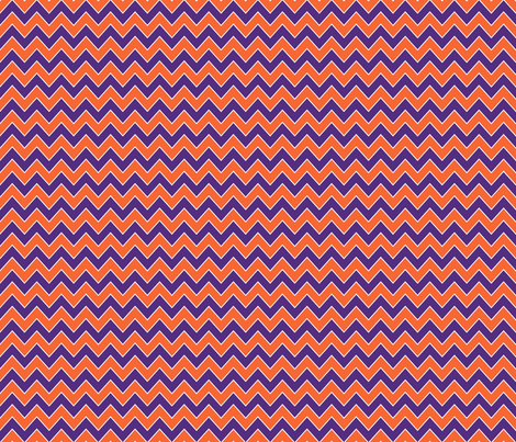 sports chevron fabric orange and purple fabric by charlottewinter on Spoonflower - custom fabric