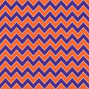 sports chevron fabric orange and purple