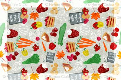 Market Fruits & Veggies TeaTowel