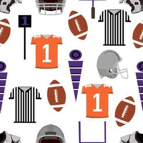orange and purple football - team sports - clemson