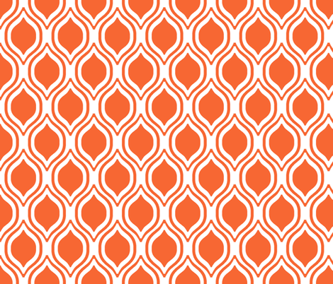 orange ogee fabric fabric by charlottewinter on Spoonflower - custom fabric