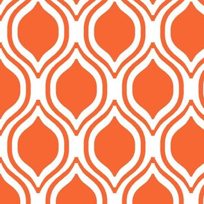 orange ogee fabric