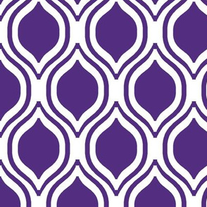 purple ogee fabric