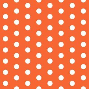 orange dots fabric