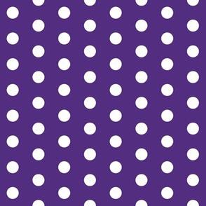 purple dots fabric