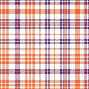 orange and purple plaid fabric clemson