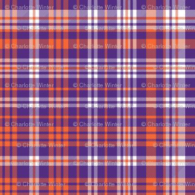 orange and purple plaid fabric clemson