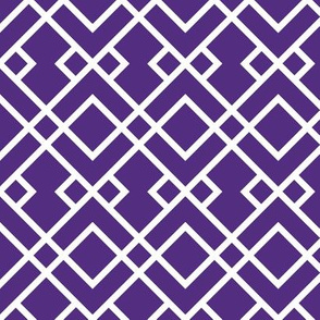 purple trellis fabric