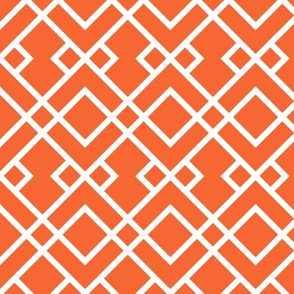 orange trellis fabric