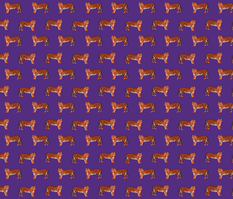 tigers fabric - purple fabric by charlottewinter on Spoonflower - custom fabric