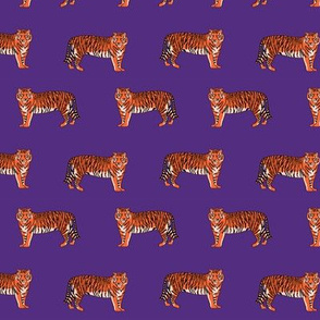 tigers fabric - purple