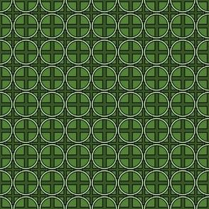 Circle Cross on Green