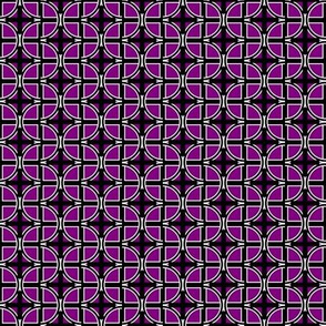 Circle Cross on Purple
