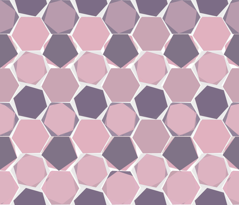Hexagons - colorway 4 fabric by lulularch on Spoonflower - custom fabric