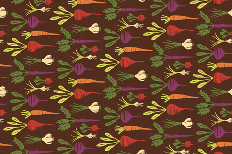 Botanical Root Veggies fabric by lisa_kubenez on Spoonflower - custom fabric