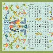 2019 Swedish Garden Towel Blue