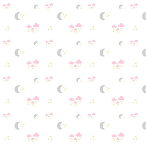 lovely gray moon clouds 525MED - pink