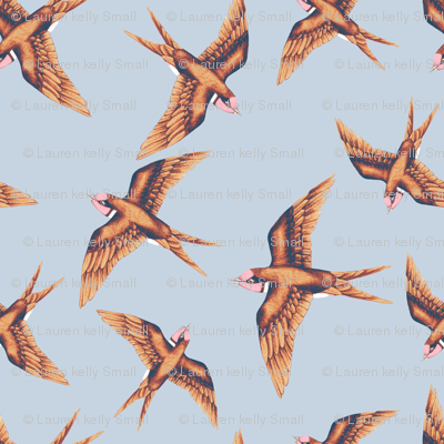 Swooping Swallow, Copper on Grey