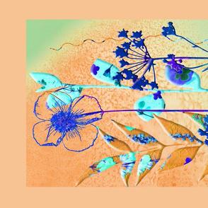 Orange Botanical Print