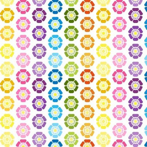 Groovy Flower Rainbow Stripes