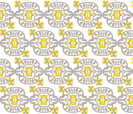 Stamp of Serenity fabric by franbail on Spoonflower - custom fabric