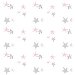 stars 7 - pink gray