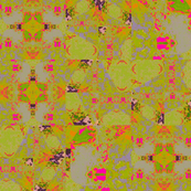 fractured green and pink
