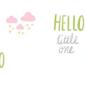 hello little one - pink gray