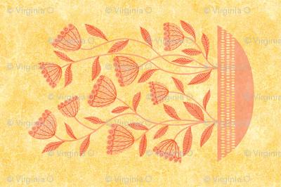 mid century modern yellow fall