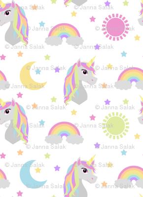 Retro Rainbow Unicorn Pastel