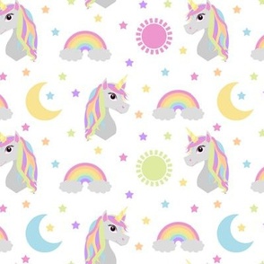 Retro Rainbow Unicorn Pastel