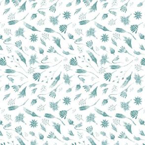 Botanical_Block Print_dark teal