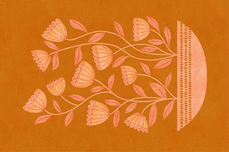 mid century modern golden fall fabric by vo_aka_virginiao on Spoonflower - custom fabric