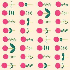 Poppy Garden Block Print