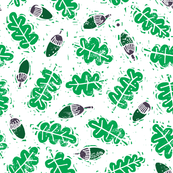 lino_acorn_and_leaves
