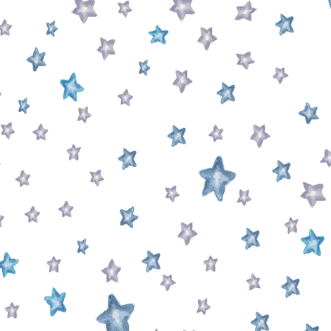 Baby Elephant Mix & Match Stars fabric by shopcabin on Spoonflower - custom fabric