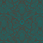 Floral Damask Paisley Textured